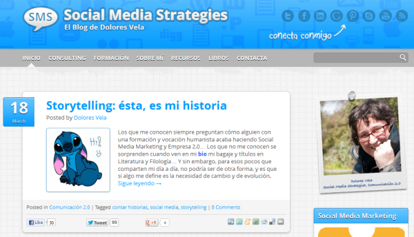 Blog Social Media Strategies, Dolores Vela - Rafaelopez Fdez
